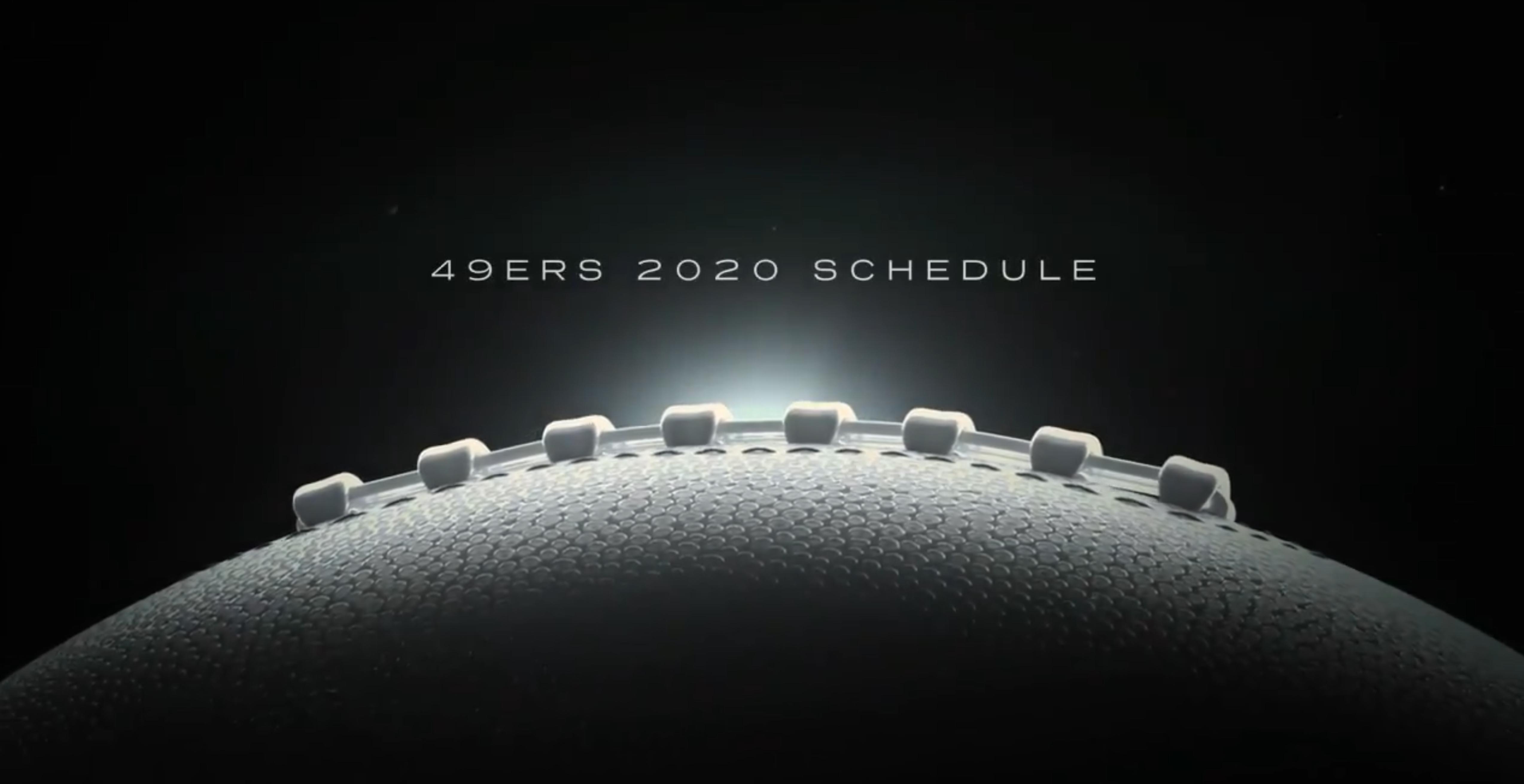 49ers schedule