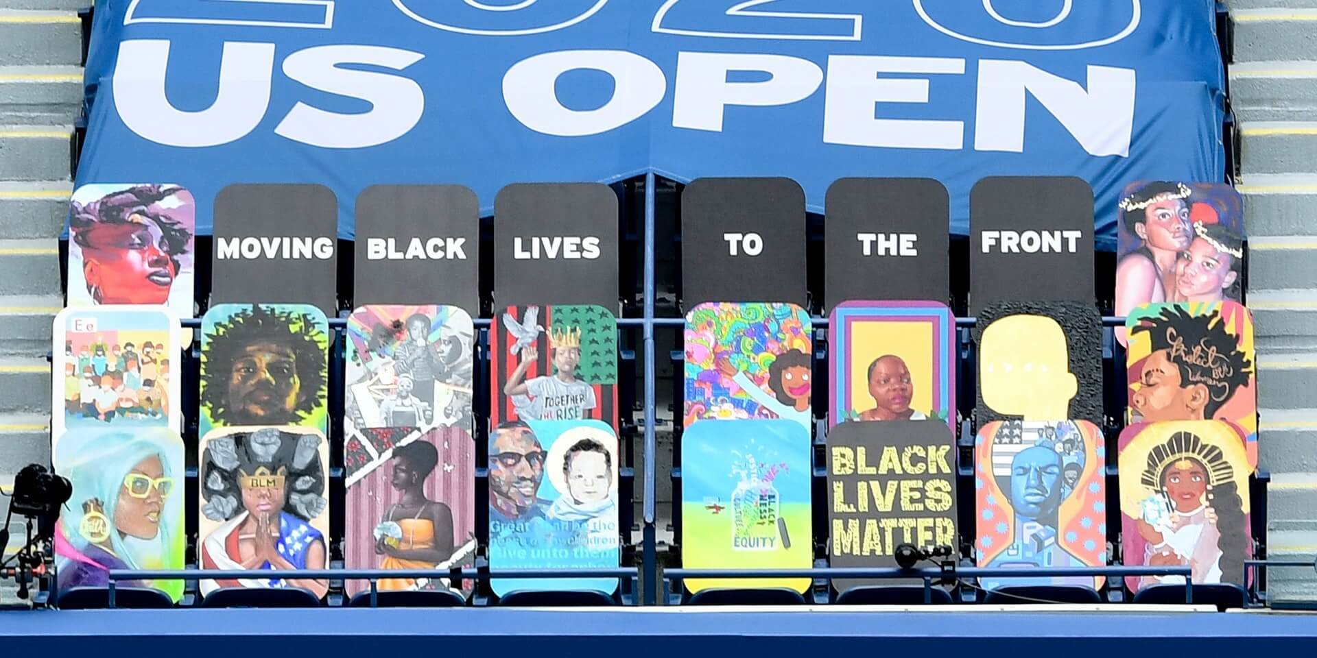US Open: Black Lives to the Front